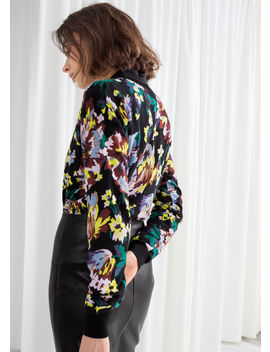Floral Cotton Knit Sweater by & Other Stories