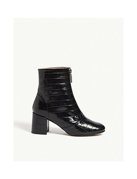Rowan Croc Embossed Leather Boots by Whistles