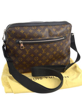Auth Louis Vuitton Torres Messenger Bag Monogram Macassar M40387 Bt14590 by Louis Vuitton