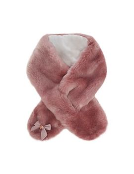 Baker By Ted Baker   Kids' Pink Faux Fur Scarf by Baker By Ted Baker
