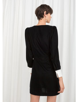 Velvet Pearl Button Mini Dress by & Other Stories