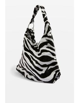 Kenya Zebra Print Tote Bag by Topshop