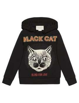 "Children's Sweatshirt With ""Black Cat"" Print by Gucci Kids"