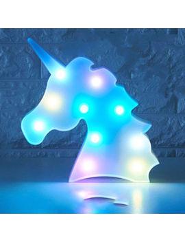 Colorful Unicorn Head Led Night Light Up Table Lamp Kids Bedroom Christmas Decor by Ebay Seller