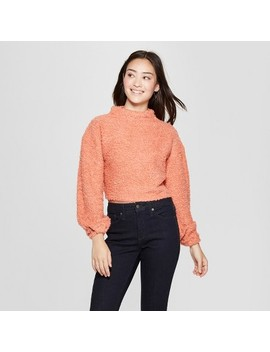 Women's Long Sleeve Turtleneck Boucle Pullover   Soul Cake (Juniors') Rose by Soul Cake
