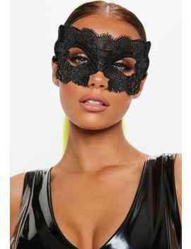 Halloween Black Lacey Mask by Missguided