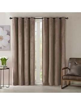Vienna Solid Velvet Window Curtain Panel by Shop This Collection