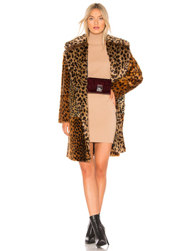 Patchwork Faux Fur Coat by Blanknyc