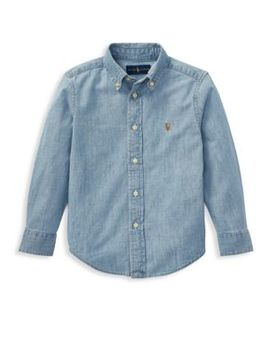 Little Boy's & Boy's Chambray Button Down Shirt by Ralph Lauren