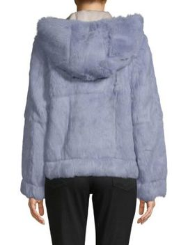 Dyed Rabbit Fur Hooded Jacket by Robert Rodriguez
