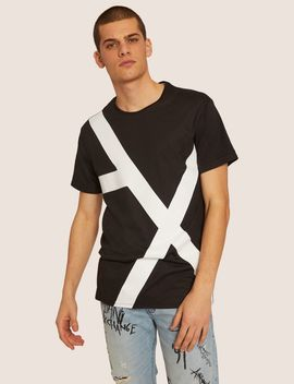 Loose Fit Oversized Line Logo Crew by Armani Exchange