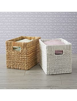 Wicker Midway Basket by Crate&Barrel