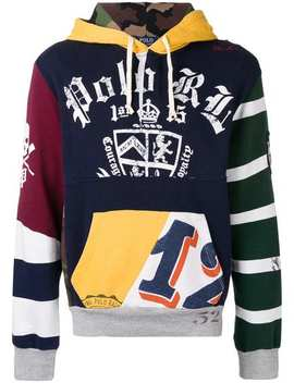 Patchwork Rugby Hoodie by Polo Ralph Lauren