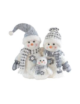 "Holiday Snowman Family 15.5"" Floor Decor by Kohl's"