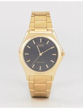 Casio   Mtp1130 N 1 A   Horloge Met Roestvrij Stalen Bandje In Goud by Asos