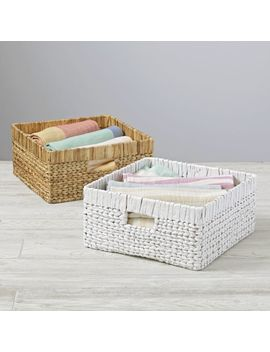 Wicker Large Changer Basket by Crate&Barrel
