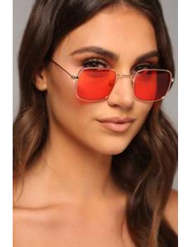 Turn Back Time Sunglasses   Red by Fashion Nova