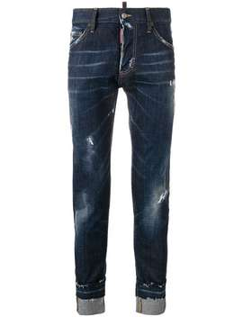 Jeans Skinny Effetto Consumato by Dsquared2