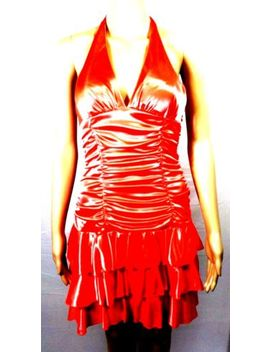 Xoxo Collection Dress Party Womens Short Shimmering Halter Top Orange Size Med by Xoxo