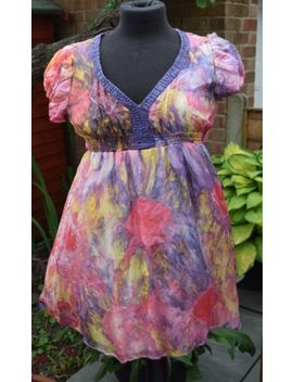 Mini Dress From La Love Small Silk Delicate Pink Lilac Glass Beads Preloved&Nbsp; by La