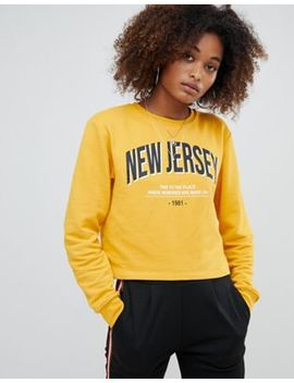 Pull&Bear New Jersey Sweater In Yellow by Pull&Bear