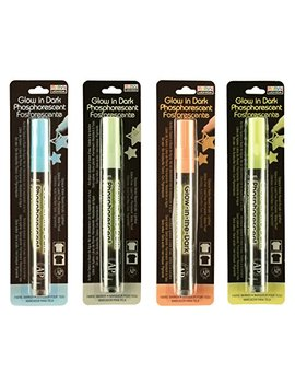 Set Of 4 Glow In The Dark Deco Fabric Marker By Marvy Uchida   4 Fabric Markers by Marvy Uchida
