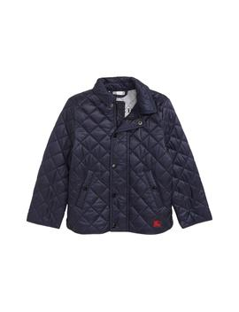 Mini Lyle Diamond Quilted Jacket by Burberry