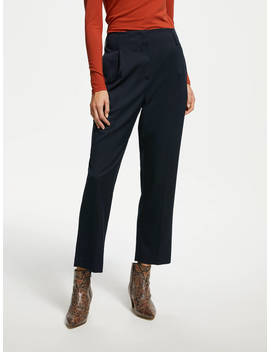 Finery Oliver Peg Trousers, Navy by Finery