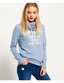 Applique Funnel Hoodie by Superdry