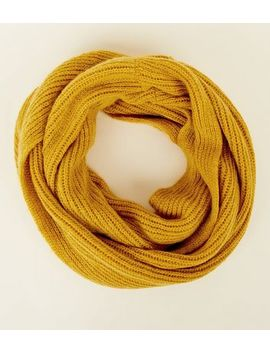Mustard Knit Snood by New Look
