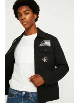 Calvin Klein Jeans Institution Black Patch Jacket by Calvin Klein