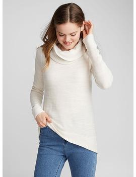 Draped High Neck Sweater by Twik