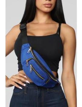 Don't Mesh With Jersey Fanny Pack   Cobalt by Fashion Nova