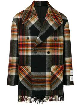 Double Breasted Plaid Coat by Calvin Klein 205 W39nyc