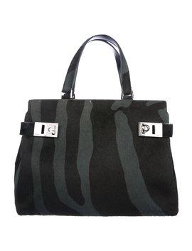 Leather & Ponyhair Handle Bag by Salvatore Ferragamo