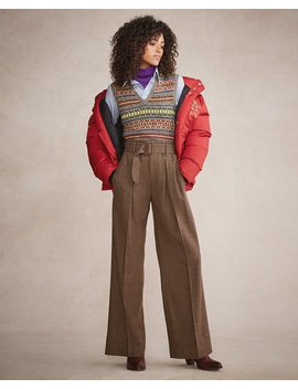 Buckled Tweed Wide Leg Pant by Ralph Lauren
