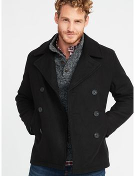 Soft Brushed Peacoat For Men by Old Navy