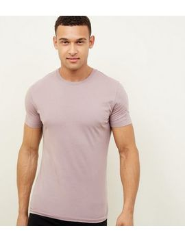 Light Purple Muscle Fit T Shirts by New Look