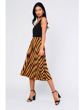 **Striped A Line Skirt By Glamorous Petites by Topshop