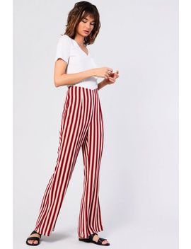 **Striped High Waist Flares By Glamorous Petites by Topshop