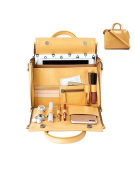 Women Solid Cosmetic Handbag Capacity Bag Multifunction Crossbody Bag by Newchic