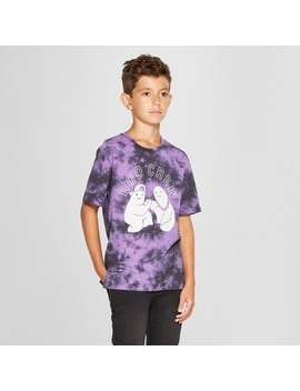 Boys' Boo Crew Short Sleeve Halloween T  Shirt   Art Class™ Purple by Art Class™
