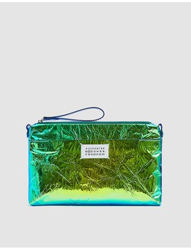 Iridescent Foil Clutch by Maison Margiela
