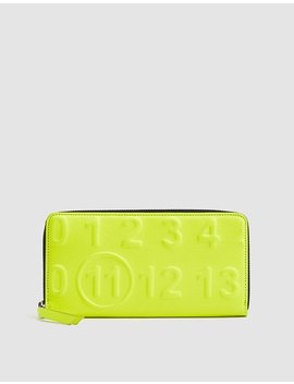 Embossed Fluorescent Wallet by Maison Margiela