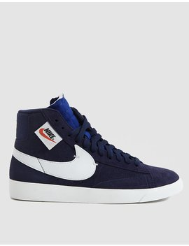 W Blazer Mid Rebel In Blackened Blue by Nike