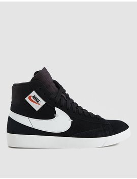 W Blazer Mid Rebel Sneaker In Black by Nike