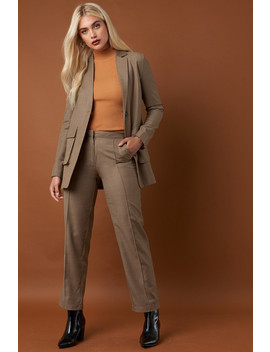 Pintuck Detail Suit Pants by Na Kd Classic
