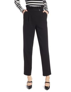X Atlantic Pacific Ruffle Waist Ankle Pants by Halogen®