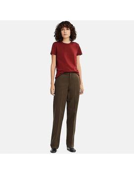 Uniqlo U Camiseta Cuello Redondo 100 Percents Algodón Mujer by Uniqlo