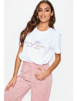 White Beverly Hills Cherub T Shirt by Missguided